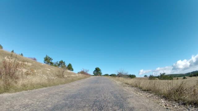road on a mountain plateau video