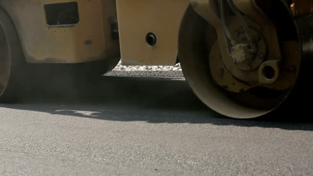 Road Roller At Road Construction Site video