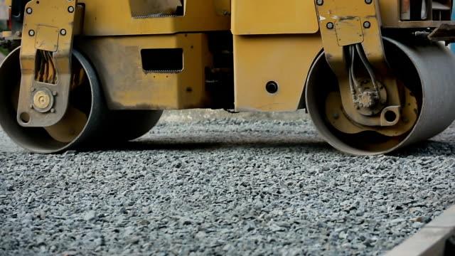 Road Roller Working On Road video