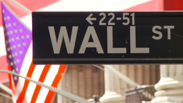 road sign of wall street video