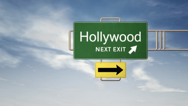 HD Road Sign Series - HOLLYWOOD video