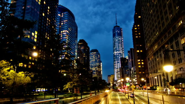 Road to Freedom Tower New York. USA free stock without watermark stock videos & royalty-free footage