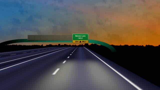 vídeos y material grabado en eventos de stock de hasta la memoria lane-hd - señalización vial