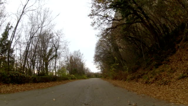Road to mountain plateau, GoPro video