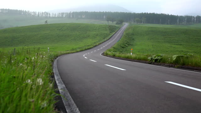 Road to mountain. video