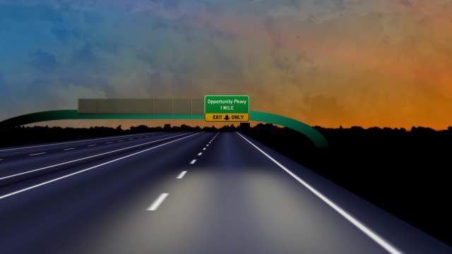Road hasta oportunidad Pkwy-HD - vídeo