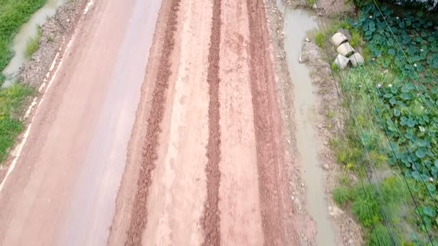 Road Tractor, roller on the road repair site. Road construction equipment. Road repair concept. video