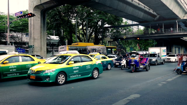 Road Traffic In Bangkok In Daytime video