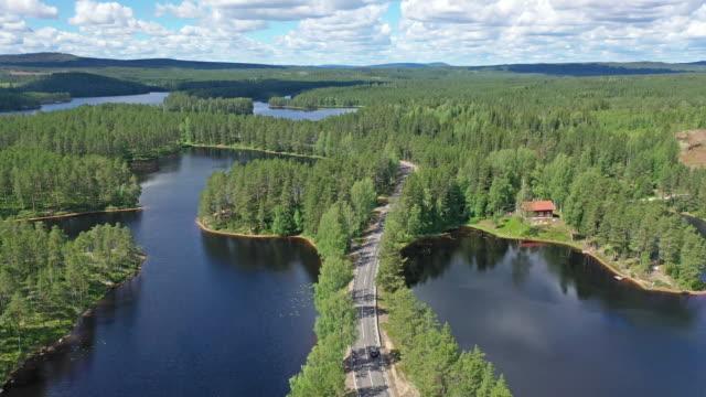 roadtrip genom ett nordiskt landskap - summer sweden bildbanksvideor och videomaterial från bakom kulisserna