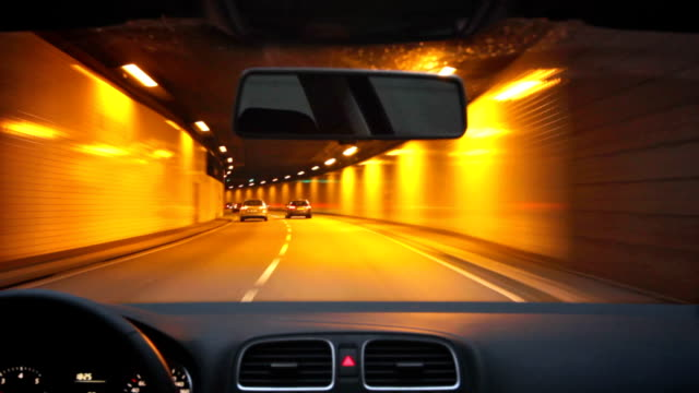 Road tunnel crossing - Wallringtunnel / Hamburg video