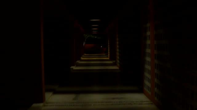 stockvideo's en b-roll-footage met wegtunnel - mist donker auto