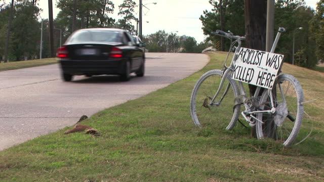 Roadside Bike Memorial video