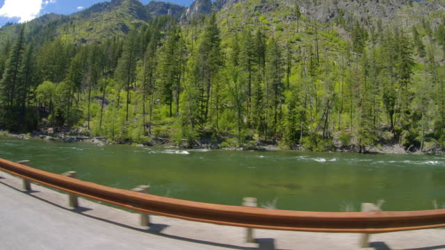 Roadside River View Driving Tumwater Canyon to Leavenworth