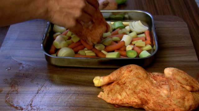 roast chicken arrange video