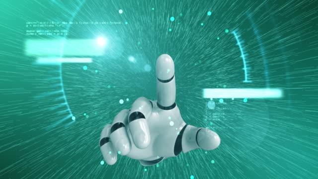 Robot el dijital Hud ekran etkinleştirme video