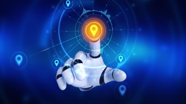 Robot el sonra konumu PIN sembolleri görünür ekranda dokunmadan video