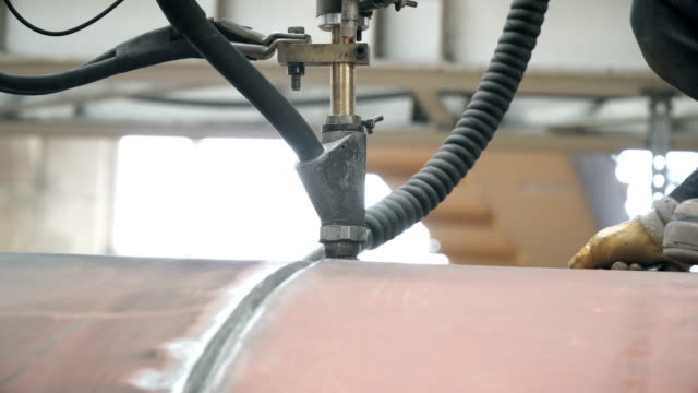 robotic welding machine - autoclave video stock e b–roll