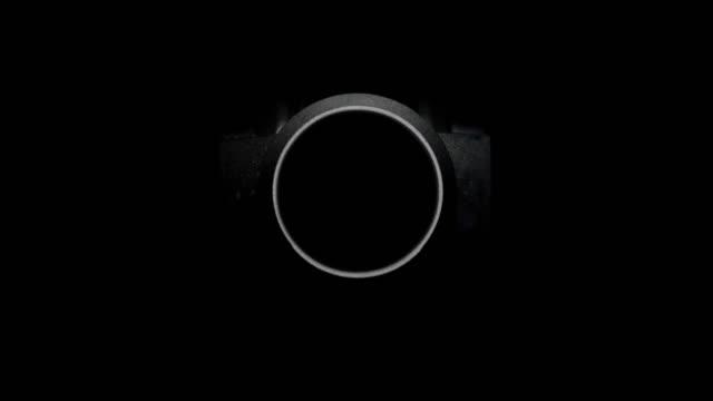 Robotics camera lens close up.