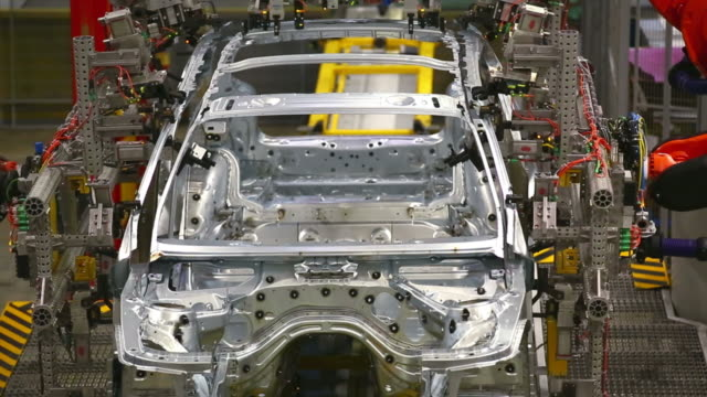 Robots Assembling Car Body​ video