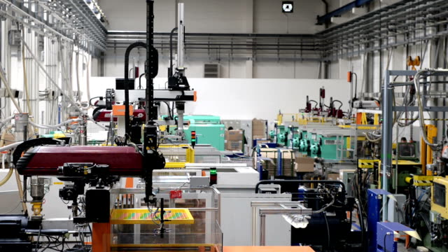Robots in factory video