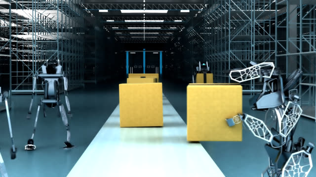 Robots stealing work - 3D Animation