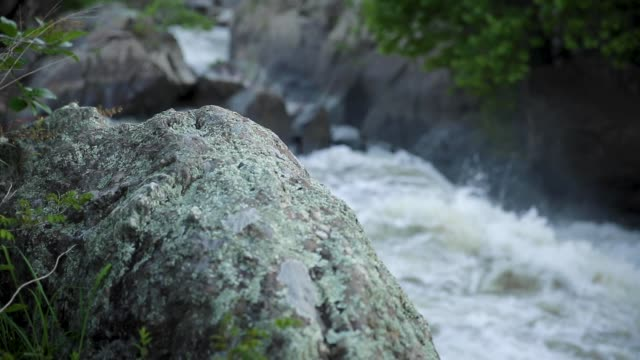 A Rock Beside a Water Fall at Great Falls, Maryland