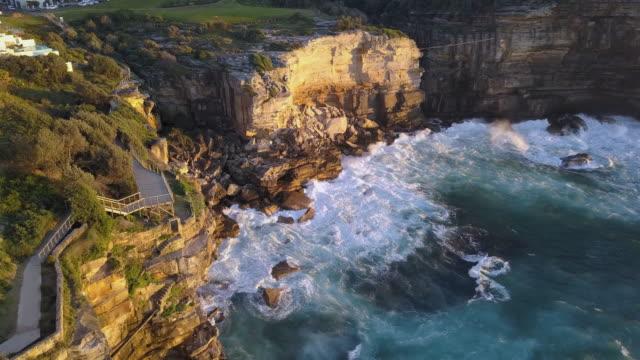 바위산 클리프를 - 시드니 뉴사우스웨일스 스톡 비디오 및 b-롤 화면
