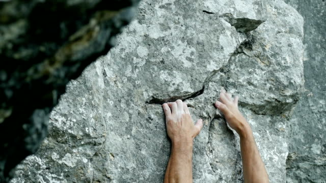 Rock Climber Close-up (4K/UHD to HD) video