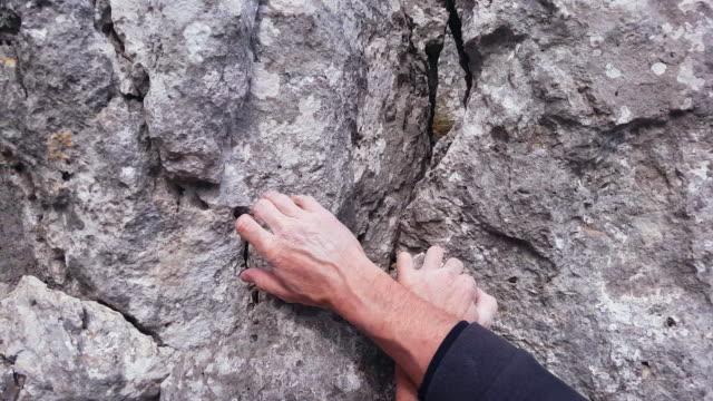 Rock Climber Close-up video