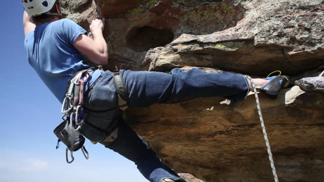 Rock climber reaches top video