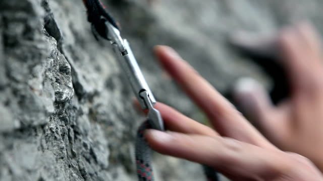 rock climbing - rock climbing stock videos and b-roll footage