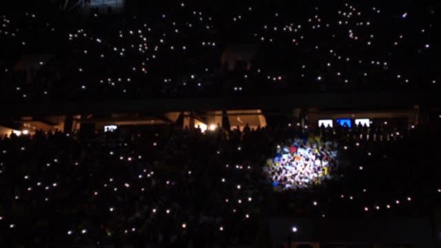 Rock concert at the stadium. video