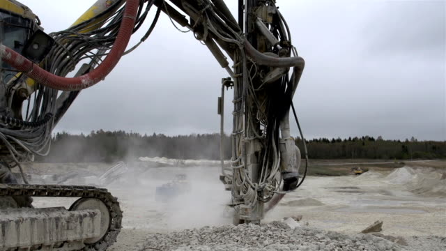 Rock driller equipment working video