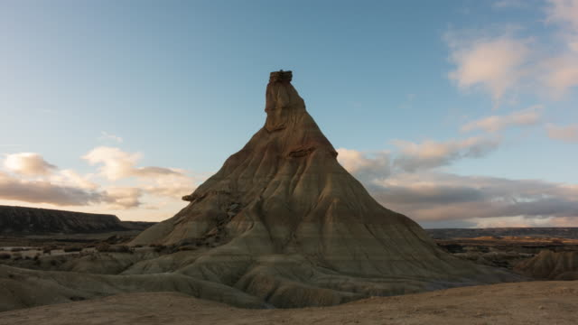 Rock formations in Bardenas Reales, the biggest desert in Europe. Rock formations in Bardenas Reales, the biggest desert in Europe. Bardenas Reales, Navarra, Spain rock formations stock videos & royalty-free footage