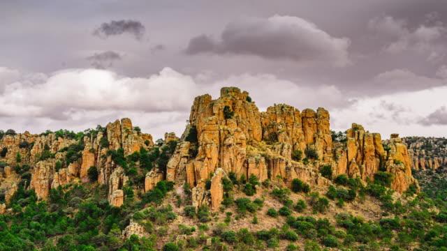 rock mountains in desert timelapse