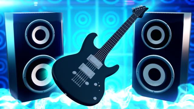 Rock music (blue) - Loop video