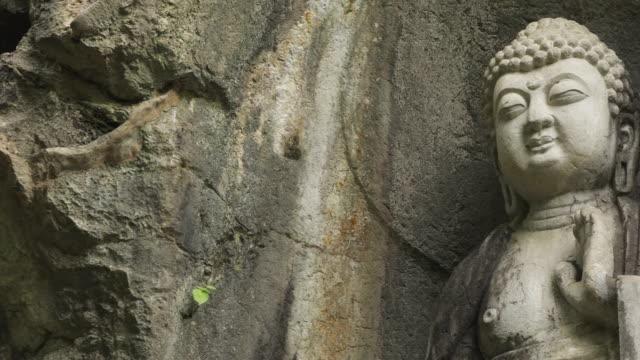 Rock reliefs in Temple video