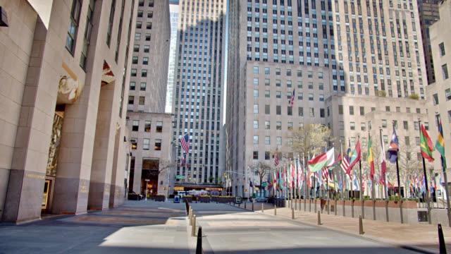 Rockefeller Center Empty. Sunrise. Reopening the Economy