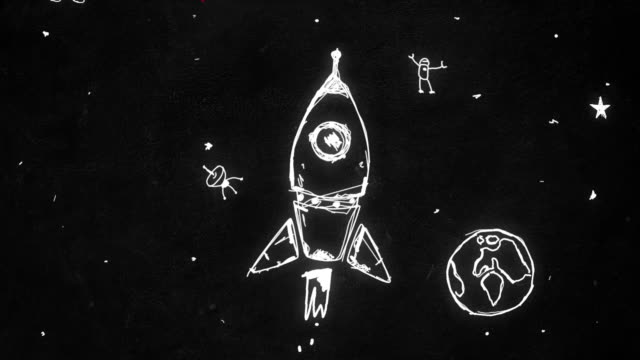 Rocket Animation - Handmade Style - Stop Motion - Motion Graphics Rocket Animation - Handmade Style - Stop Motion - Motion Graphics cartoon stock videos & royalty-free footage