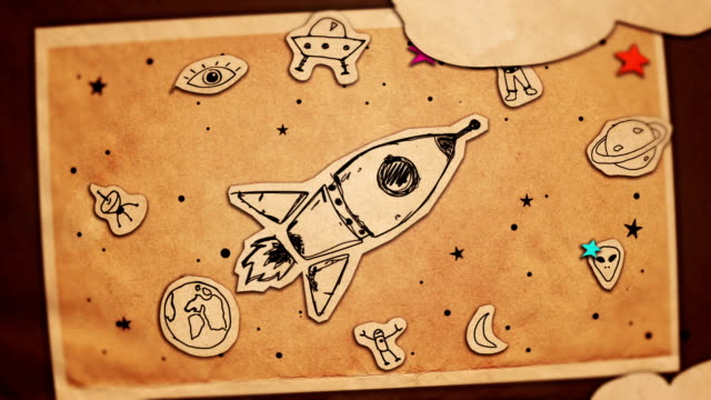 Rocket Animation - Paper Cut - Stop Motion - Motion Graphics - Cut Out Style