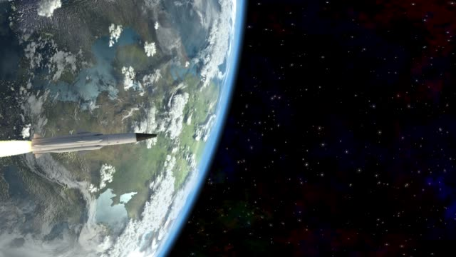 Rocket flies into space rocket flies into space 3d animation nuclear missile stock videos & royalty-free footage