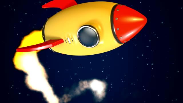 Rocket fly by +matte key - video