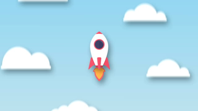 raket som flyger upp från jorden till rymden - platt bildbanksvideor och videomaterial från bakom kulisserna