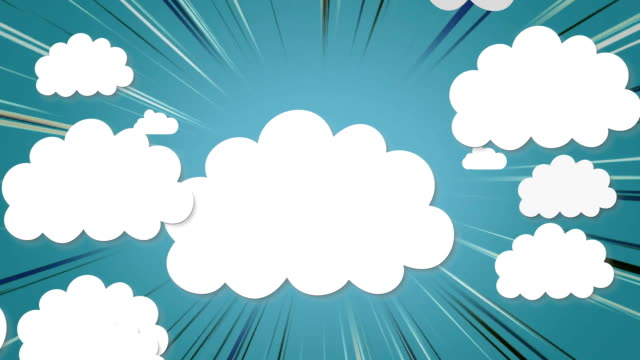Rocket icon against multiple cloud icon