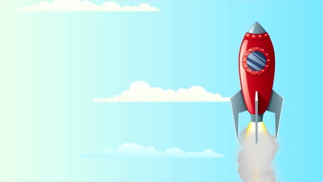 Rocket in Sky video