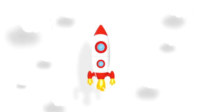 4K Rocket launch. Green screen video motion. Spacecraft takes off into space concept. Chroma key