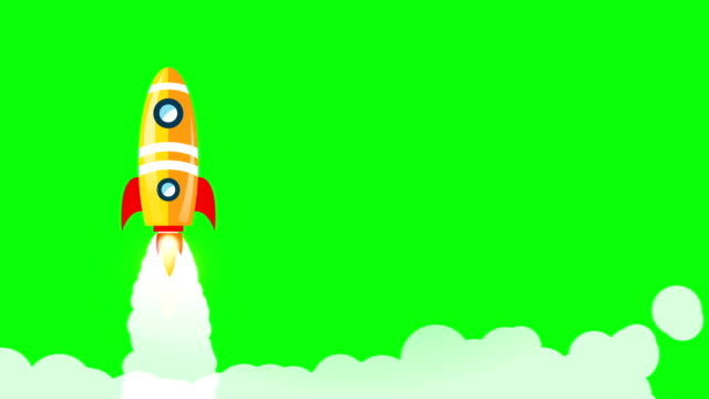 Rocket launch,ship with smoke on green screen video motion.Spacecraft takes off into space concept. Rocket launch,ship with smoke on green screen video motion.Spacecraft takes off into space concept. animation moving image stock videos & royalty-free footage