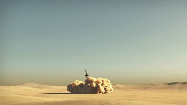 Rocket start from desert rocket start from desert 3d animation nuclear missile stock videos & royalty-free footage