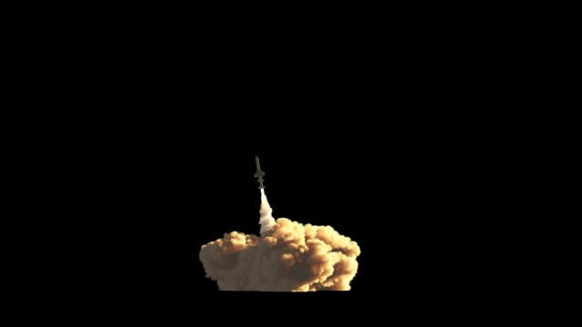 raketenstart mit alpha-maske - rakete stock-videos und b-roll-filmmaterial