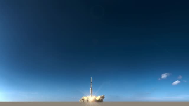 rakete startet, raum - rakete stock-videos und b-roll-filmmaterial